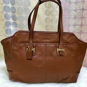 COACH Tan Leather Large Taylor Alexis Tote 25205